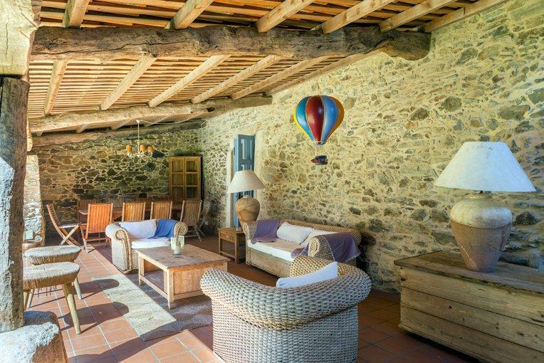 Porche de Casa Albatros, apartamentos rurales en A Coruña