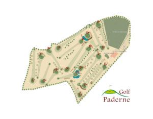 Plano del campo del Club de Golf Paderne